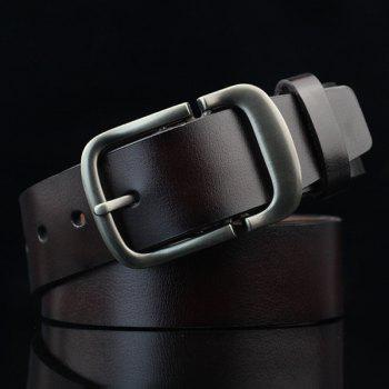 Cut Off Buckle PU Wide Belt