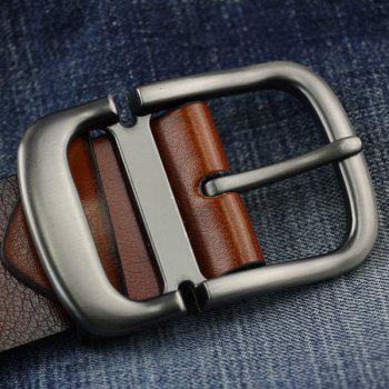 Cut Off Buckle PU Wide Belt - ESPRESSO