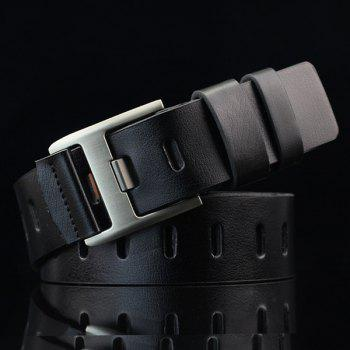 Hollow Out Wide Hole PU Belt
