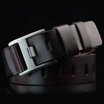 Hollow Out Wide Hole PU Belt - ESPRESSO ESPRESSO
