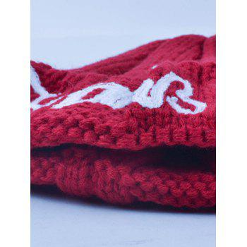 Winter Knitting Patterns Letter Hat with Writing - CADETBLUE