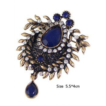 Faux Gem Scorpion Rhinestone Brooch - BLUE