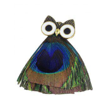 Cartoon Owl Polished Brooch