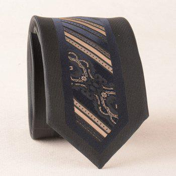 Stripe Jacquard Polyester Bridegroom Neck Tie