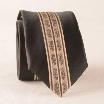 Stripe Paisley Polyester Narrow Neck Tie
