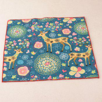 Christmas Deer Pocket Square and Neck Tie - BLUE