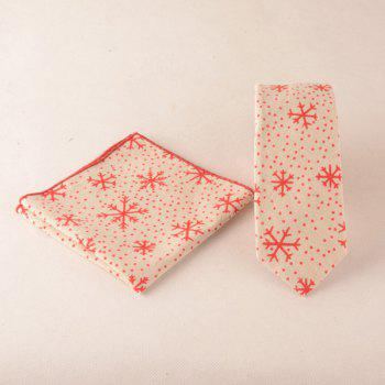 Christmas Snowflake Pocket Square and Neck Tie