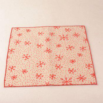Christmas Snowflake Pocket Square and Neck Tie - BEIGE