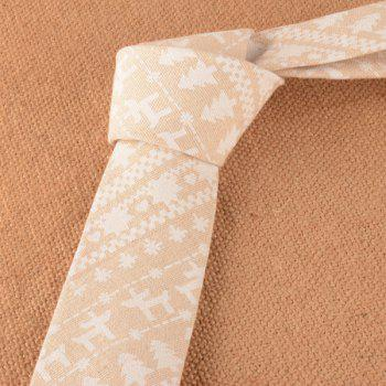 Christmas Tree Linen Square Pocket Tie Set - KHAKI