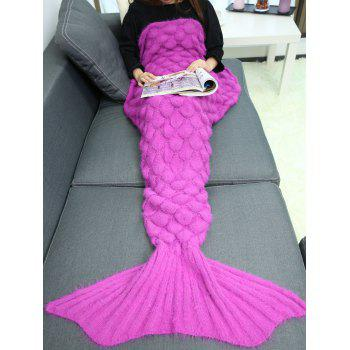 Warmth Crochet Sleeping Bag Wrap Mermaid Blanket - TUTTI FRUTTI