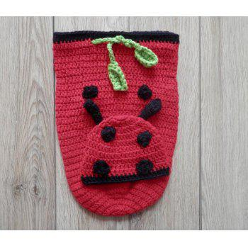 Handmade Crochet Baby Photography Prop Clothes Set - RED RED