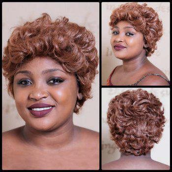 Towheaded Short Curly Synthetic Wig