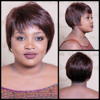 Spiffy Short Neat Bang Double Color Straight Synthetic Wig