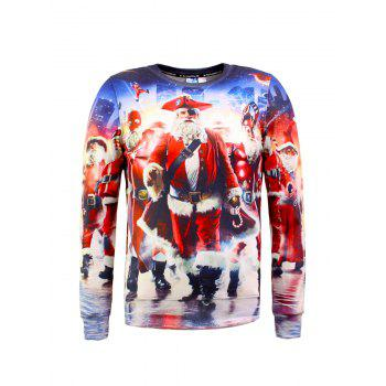 3D Print Long Sleeve Christmas Sweatshirt