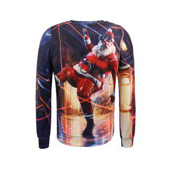 Long Sleeves Pullover Christmas Sweatshirt - COLORMIX COLORMIX