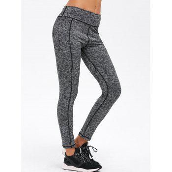 Skinny Striped Exercise Pants - GRAY GRAY