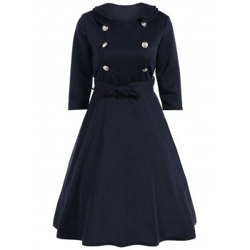 Bowknot Belted Swing Dress