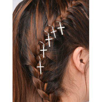 5 PCS Crucifix Hair Accessories - SILVER SILVER