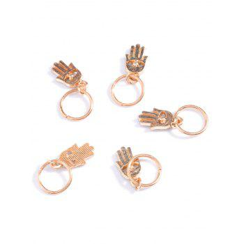 5 PCS Devil Eye Hand Hair Accessories -  GOLDEN