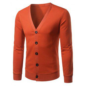 Slim Fit V Neck Button Up Cardigan