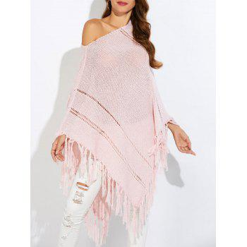 Asymmetric Oversized Cape Tassels Sweater
