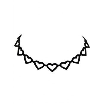 Hollow Heart Out Velvet Choker