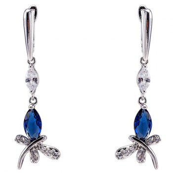 Stylish Zircon Butterfly Earrings