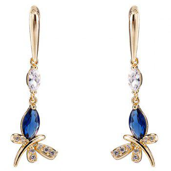 Rhinestone Chic Butterfly Earrings