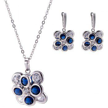 Petal Zircon Necklace Set