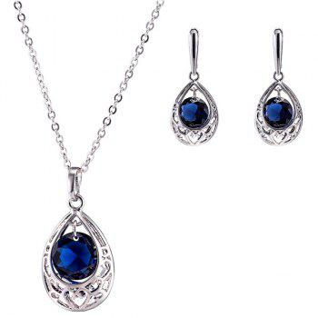 Teardrop Heart Zircon Necklace Set
