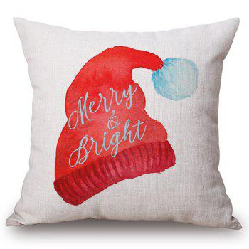 Christmas Cap Printed Holiday Pillow Case