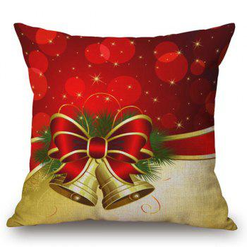 Christmas Bell Printed Holiday Pillow Case