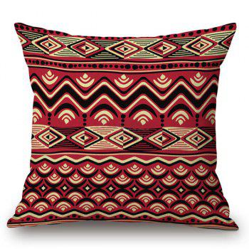 Christmas Stripe Corrugated Printed Pillow Case