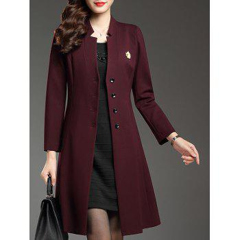 Single Breasted Slim A Line Coat