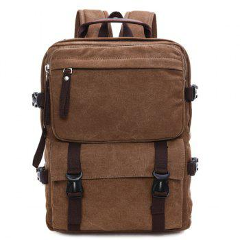 Casual Canvas Multifunctional Backpack - COFFEE COFFEE