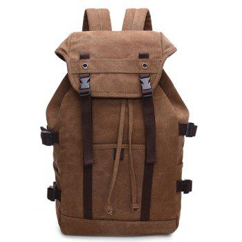 Casual Straps Multifunctional Canvas Backpack