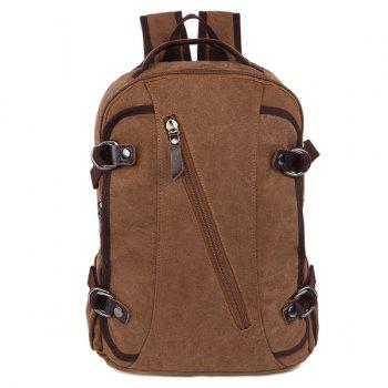 Side Pockets Canvas Multifunctional Backpack