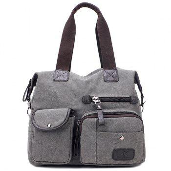 Canvas Pockets Multifunctional Handbag