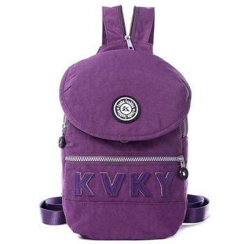 Casual Nylon Letter Patches Crossbody Bag