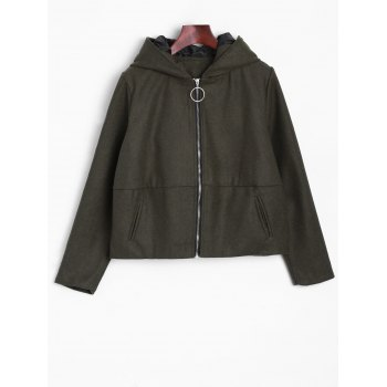 Ears Hooded Bomber Jacket - ARMY GREEN ARMY GREEN