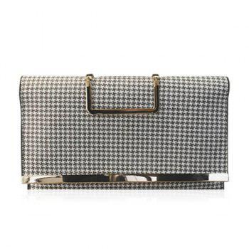 Gien Check Pattern Covered Closure Tote Bag