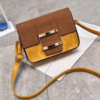 Covered Closure Metal Square Shape Crossbody Bag