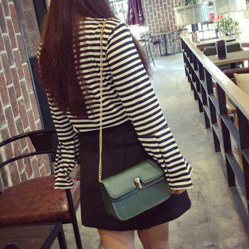 Metallic Square Shape Chain Crossbody Bag