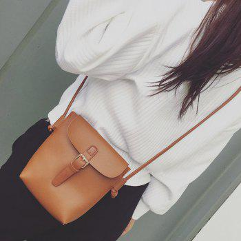 PU Leather Magnetic Closure Crossbody Bag