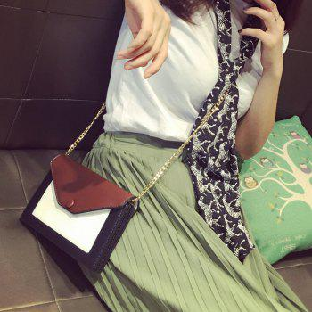 Magnetic Closure Colour Splicing Envelope Crossbody Bag