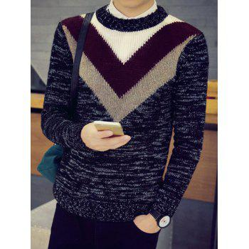Crew Neck Flat Knitted Space Dye Sweater