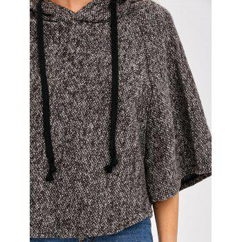 Heather Hooded Poncho Cape - ONE SIZE ONE SIZE