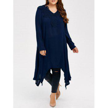 Plus Size Long Sleeve Asymmetrical Dress