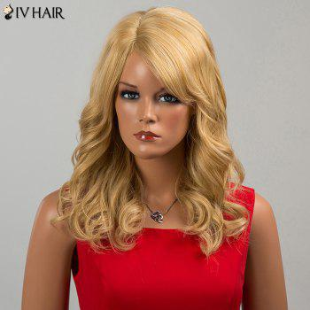 Siv Hair Long Curly Side Bang Human Hair Wig - CITRUS