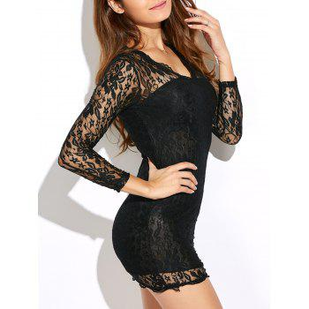 See Thru Mini Bodycon Lace Tight Bandage Dress